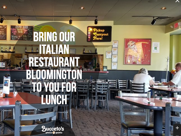Bring Our Italian Restaurant In Bloomington To You For Lunch