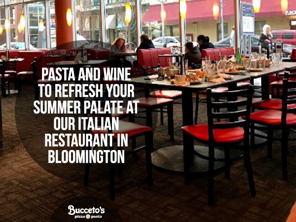 Our Italian Restaurant In Bloomington Serves Wine And Pasta